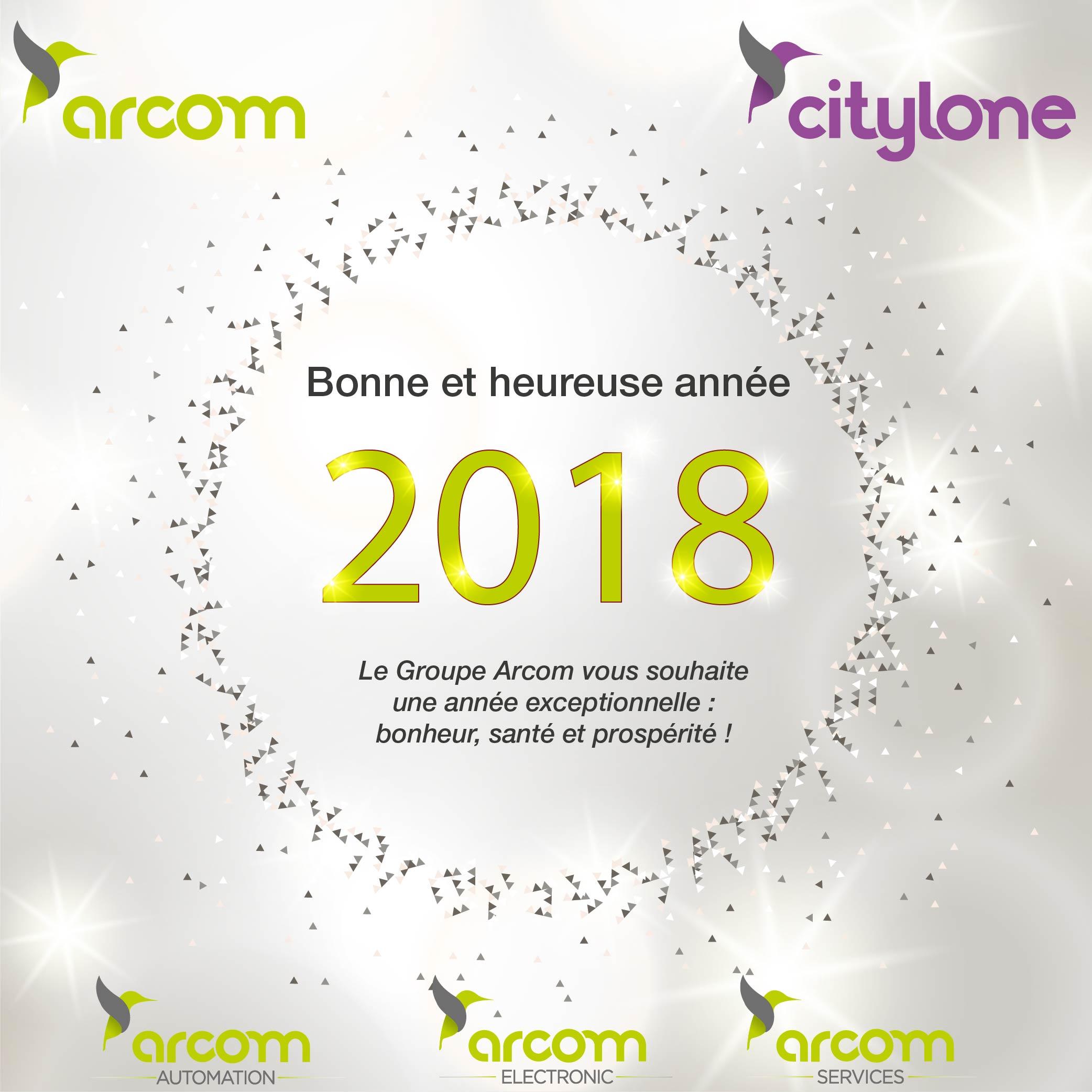 Carte Voeux Arcom Citylone 2018