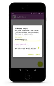 myCitylone Créer un projet