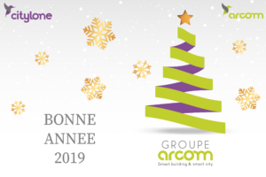 Carte voeux 2019 Arcom Citylone